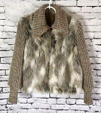 Vintage Retro 70's Faux Fur Jacket Women's Size Small/ XS
