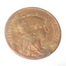 VINTAGE ANTIQUE FRENCH FRANCE COIN 5 CENTIMES 1906 .