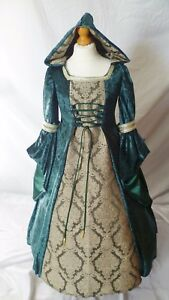 Girls Medieval Dress Renaissance Hooded Gown made to measure from age 5 to 7 yrs