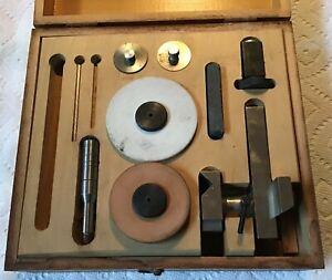 LEVIN Lathe watchmaker 10mm set in Box Vintage