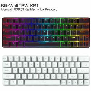 BlitzWolf BW-KB1 63 Keys RGB Custom Bluetooth Wired Mechanical Gaming Keyboard