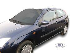 Ford Focus ST RS Mk1 3 Door 1998-2004 Front wind deflectors 2pc TINTED HEKO