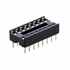 2 Pcs 16 Pin Dip Ic Socket Adaptor Solder Type Retention Contact Usa Seller