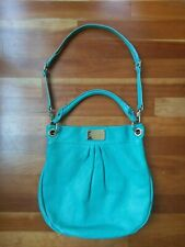 Marc by Marc Jacobs Classic Q Hillier Hobo Turquoise Aqua Teal Leather Handbag
