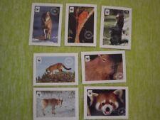 Aufkleber - WWF TIERE Säugetiere - 7 Sticker Edeka NEU