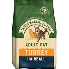 More details for 4kg james wellbeloved hairball natural adult complete dry cat food turkey & rice
