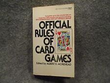 Offical Rules Of Card Games Albert H Morehead 1968 Vintage PB Fawcett Crest