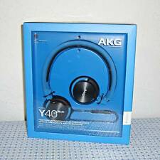 NEW AKG Y40 MINI ON-EAR HEADPHONES W/DETACHABLE CABLE & REMOTE/MICROPHONE -BLUE