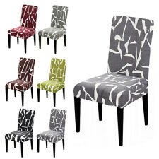Universal Removable Elastic Seat Cover Slipcovers Spandex Geometric Chair Covers