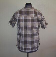 Women's Bobbie Brooks Brown & White Plaid Shirt Medium