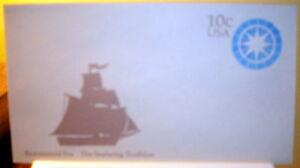 10¢ Postage Envelope SC# U571 Seafaring Tradition sz 10; Mint; Free Shipping