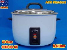 TOYO Commercial Rice Cooker 30 cups/5.6L non-stick innerpot CFXB130-58 Keep Warm