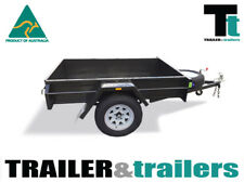 6x4 BOX TRAILER - NEW WHEELS & TYRES - FIXED FRONT - DOMESTIC HEAVY DUTY TRAILER
