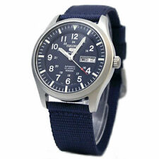 Seiko 5 Sports Military 100M Automatic Men's Watch Blue Nylon Strap SNZG11K1