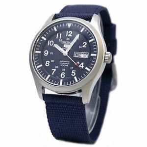 Seiko 5 Sports Military 100M Automatic Men's Watch Blue Nylon Strap