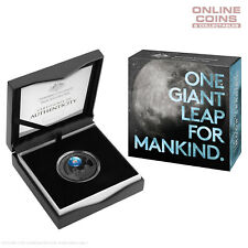 2019 $5 Nickel Plated Coloured Silver Proof Domed Coin 50th Moon Lunar Landing