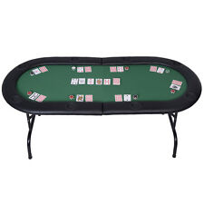 Foldable 8 Player Poker Table Casino Texas Holdem Folding Poker Play Table