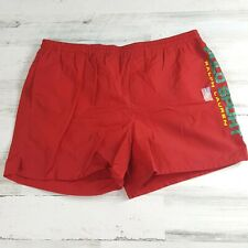 Vintage Men's Polo Sport Ralph Lauren Swim Shorts Spell Out Large Red NWOT