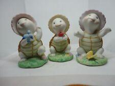 Turtles ~ Homco Vintage Bisque Porcelain ~ Lot of 3 ~ #8877