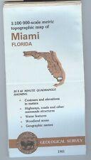 USGS Topographic Map MIAMI Florida 1981 - 100K -