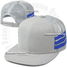 Trucker Mesh Hat Baseball Cap Snapback Plain Flat Hip Hop Adjustable Hats Mens