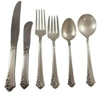 Damask Rose by Oneida Sterling Silver Flatware Set For 8 Service 49 Pieces