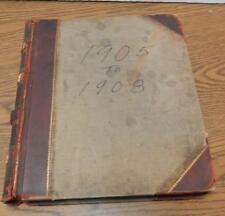 Antique 1905-1907 Pere Marquette Railway Salem Train Wreck Official Injury Log