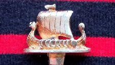 VIKING SAILING ROWING SHIP 3D VINTAGE ENAMELED SILVER PLATED SOUVENIR TEA SPOON