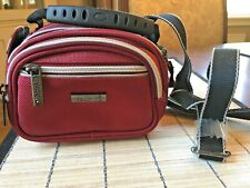 KENNETH COLE REACTION Burgundy Camera Bag with Black Detachable Strap, NWOT
