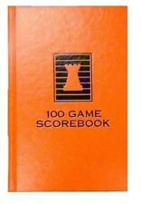 HARDCOVER CHESS SCOREBOOK - ORANGE - 100 GAMES - MADE IN USA