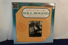 """Will Rogers, All I Know Is Just What I Read"""", Golden Age GA 5034, 1979, SEALED"""