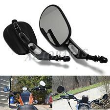 Edge Cut Rear View Mirrors for Dyna Softail Touring Road King XL1200L 883 Black