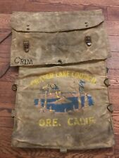 Vintage 50's 60's Diamond Brand BSA Crater Lake Ore Boy Scouts Backpack