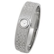 NWT Coach Women's Watch Silver SS Bracelet Bangle  SCOUT 14502608 $295
