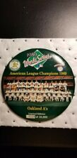 """1989 World Series Oakland A's Baseball 6"""" Photo Button Limited Edition"""