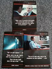 2018 RITTENHOUSE THE X FILES SEASON 10 & 11 QUOTABLE INSERT 3 CARD LOT