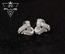 18K White Gold Filled Lady's Knot Crystal Stud Earrings Antique Style Gift AU