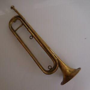 Trompette cavalerie COUESNON instrument vent cuivre musique Paris France N2500
