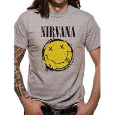 Nirvana Smiley Splat Mens T-shirt Licensed Top Grey 2xl