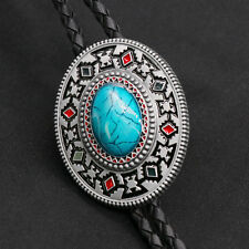 Artical Heart Original Western Cowboy Middle Turquoise Bolo Tie Mens Fashion
