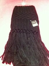 Topshop Scarf Black Long Tassels Knitted New Winter Christmas