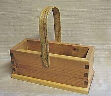 "Handmade & Signed ""W.R. 1999"" Wooden Box w/ Handle"