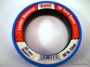 Ande Monofilament Leader Material 50 Yard Spool 0.55mm diameter 30 Lb Clear