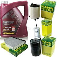 Motor-Öl 5L MANNOL 5W-30 Combi LL+MANN-FILTER Skoda Octavia 1Z5 1.6 LPG