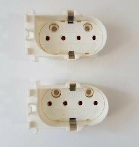 2 LOT - Leviton 23453 2G11 Vertical Snap in Lampholder 660W 600V 4-Pin Shunted