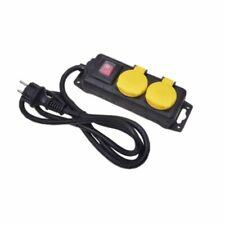 2er Steckerleiste Steckdosenleiste Mehrfachstecker Außensteckdose mit Schalter