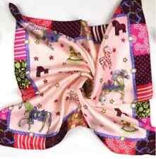"100% Silk Scarf 20"" Small Square Women neckerchief Wrap red blue pink XF33167"
