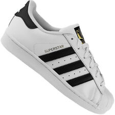 Adidas Originals Superstar Youth blanco/negro cuero entrenadores zapatos 36 EU