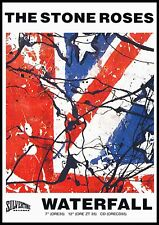 """Reproduction The Stone Roses Poster, """"Waterfall"""" Indie, Manchester"""