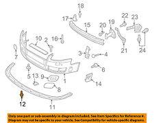 AUDI OEM 07-08 S4 Front Bumper Grille Grill-Spoiler Screw N91024301